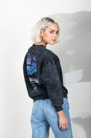 Session Woman Sweater acid washed onyx